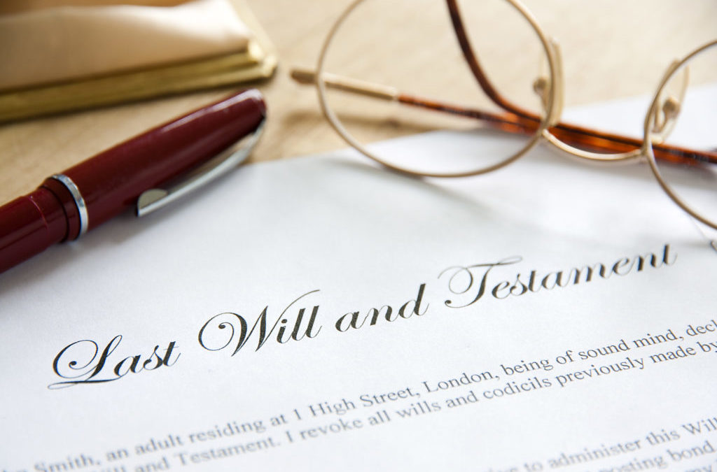 Last Will and Testament Concept